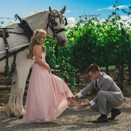 Happy Couple with Horse