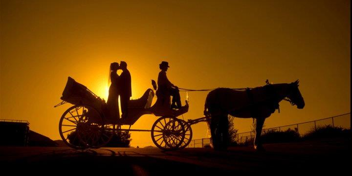 Sunset Picture with Carriage